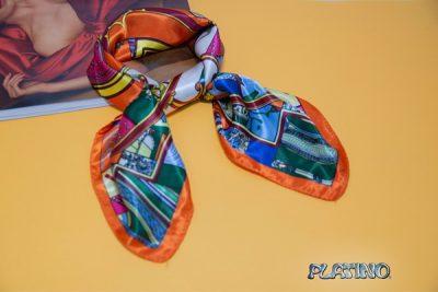 Pañuelo de seda colores cálidos