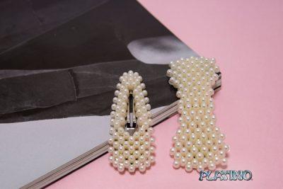 Hebilla pelo con perlas